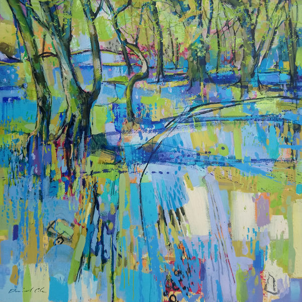Bluebells at Enys Wood - 52x52cm £750