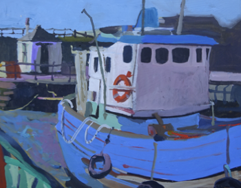 Boats at Maryport 46x40cm inc frame £1100