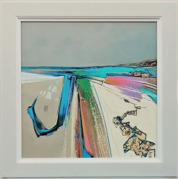 'Colours of the coast' 77x77cm inc frame £1400
