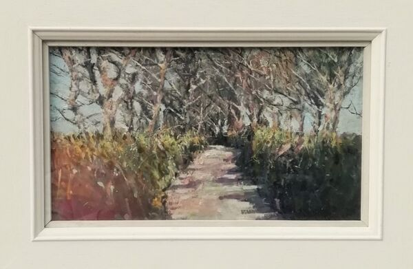 Cornish lane near Fowey 43x31cm inc frame £395