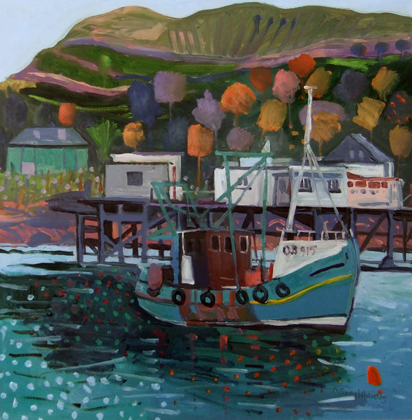 Craignure oil on board 16x16ins exc frame £2200