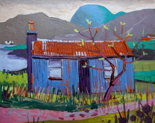Croft by the Loch 42x36cm inc frame £1200