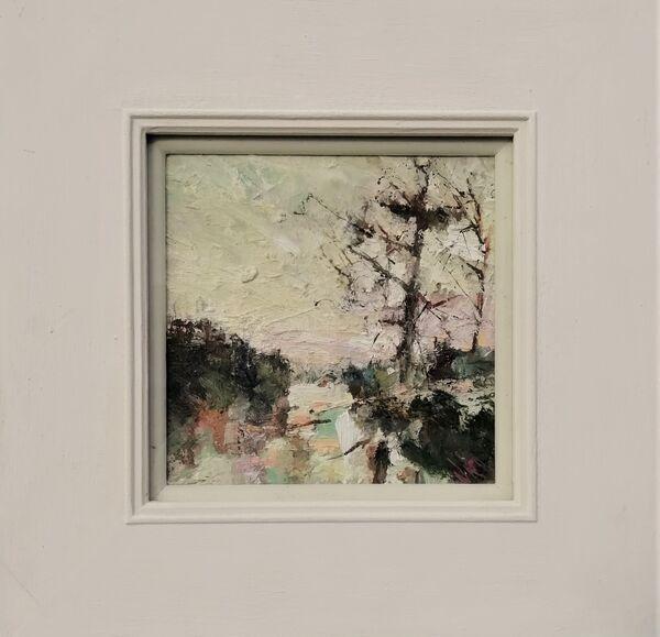 Early Morning Devoran 33x33cm inc frame £395