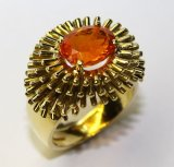18ct Fire Opal Anenome Ring £2100