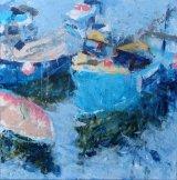 Fishing Boat Mevagissey 78x78cm inc. frame £750
