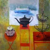 Formal Tea 98x98cm inc frame £2900