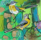 Grey Wagtails 29x29cm inc frame £400