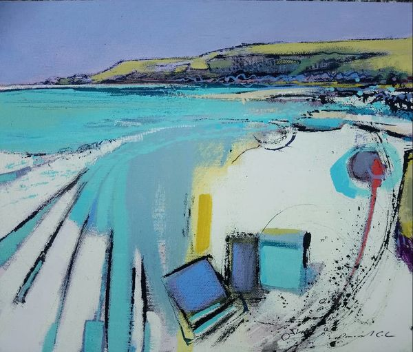 Headland and beach 2 34x29cm inc frame £545