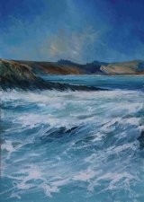 Ian Shearman Very high tideTowan 71x56cm inc frame £995