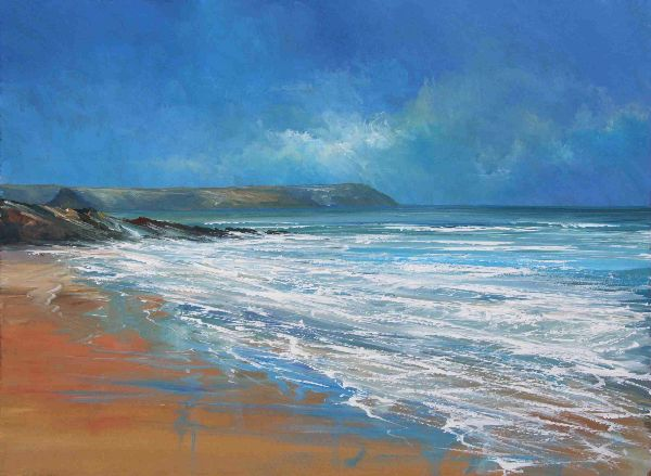 Ian Shearman 'Fresh surf Towan' 51 x 38 cms