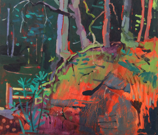 Into The Forest We Go oil on board 11x12ins exc frame £1400