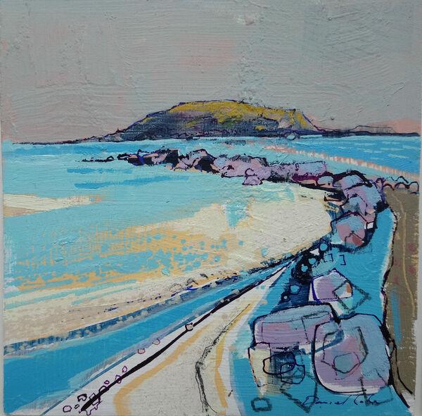 Island - Oil on board - 19 x 19 cm exc frame £400