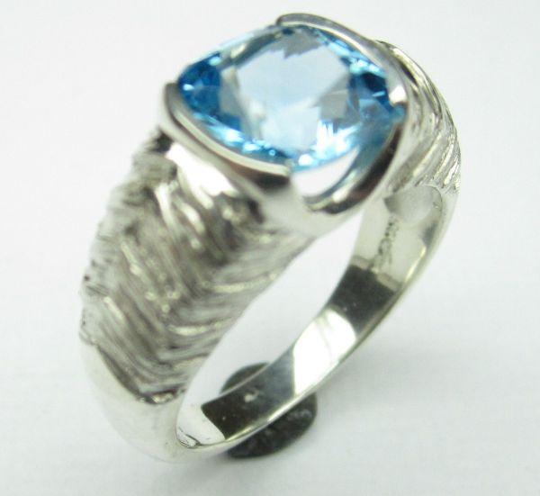 Jack & Jill Ring - Silver & Blue Topaz £265