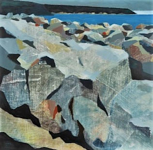 Low tide headland 47x47cm inc frame £355