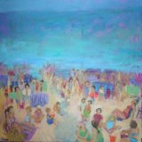 Lynn Golden Beach scene 102cmx102cm £1500