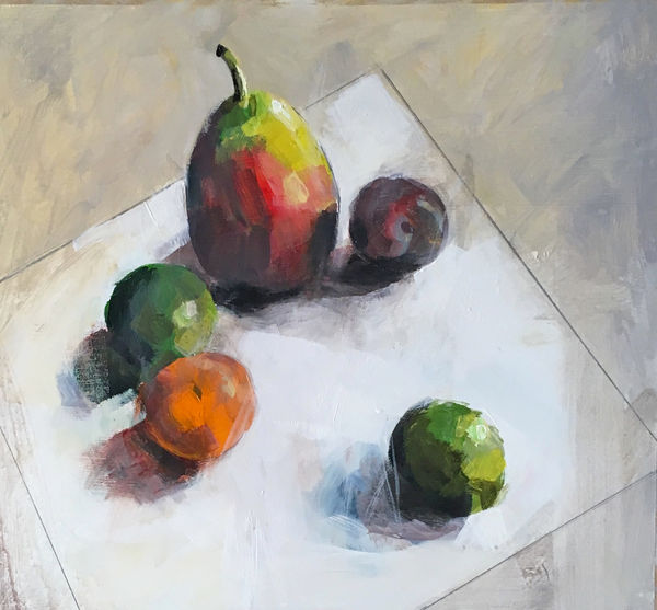 More bleddy fruit 53x53cm inc frame £495