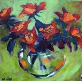 'Orange Roses' 45x45cm inc frame £470