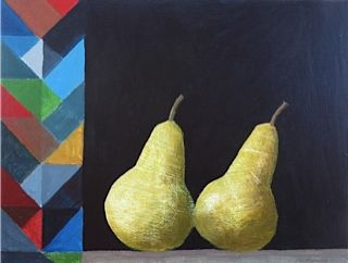 Pears and Pattern 48x40cm inc frame £420