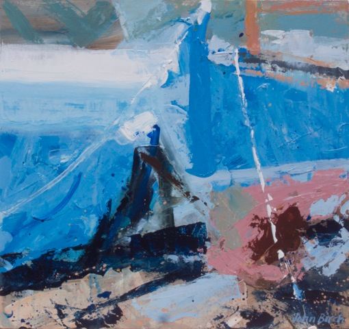 Percuil River - beached 2 43x41cm exc frame £495