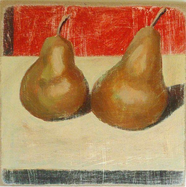 Philip Lyons Two ripe pears 29x29cm inc frame £310