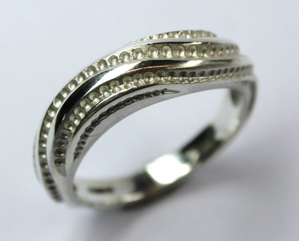 Silver Prussian wave Ring £108