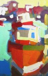 Robin-Leonard---Mevagissey Toshers 44x62cm inc frame £650
