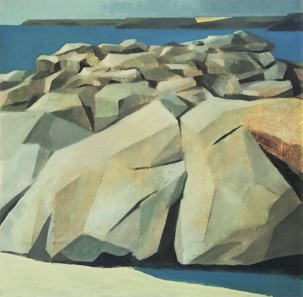 Rockpools Rock and Headland 60x60 cm inc. frame £700
