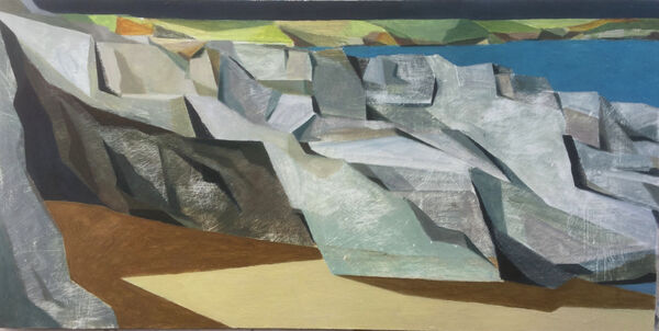 Sand rocks sea and headland 96x56cm inc frame £1275