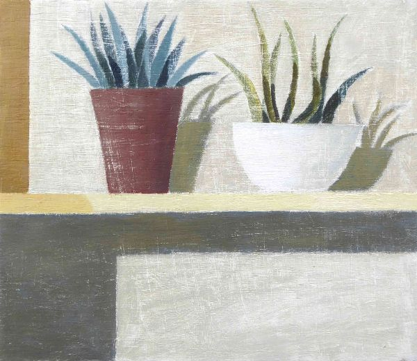 Sarahs-Plants-on-shelf-21x25 exc frame £425