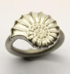 Silver Ammonite ring £150