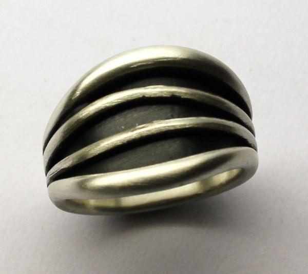 Silver Ocean Templar Ring