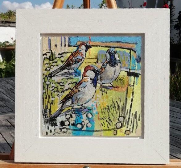 Sparrows 30x30cm inc. frame £400