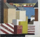 Striped-Blocks-&-My-view--14x15cm exc frame £180