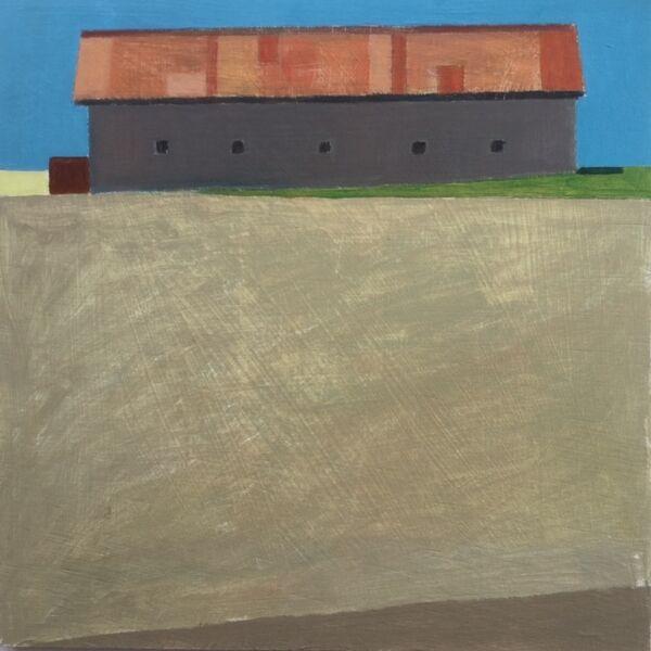 Summers day barn 48x48cm inc frame £440