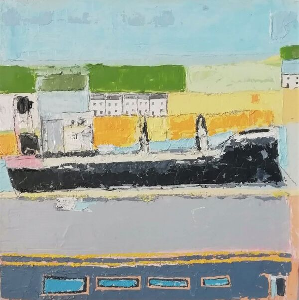 The Carrick Roads 36x36cm inc frame £425