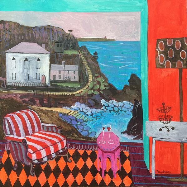 The Little Cove 76 x76cm inc. frame £2600