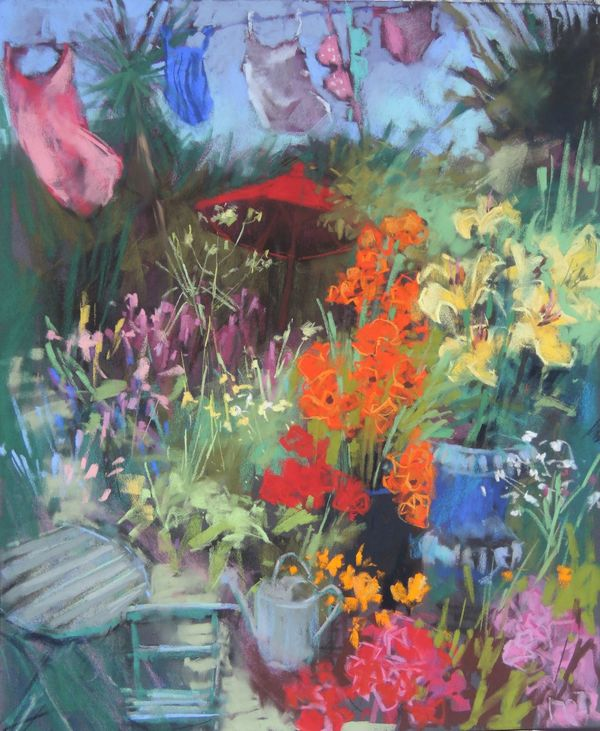 summer garden105cmx87cm.pastel £1200