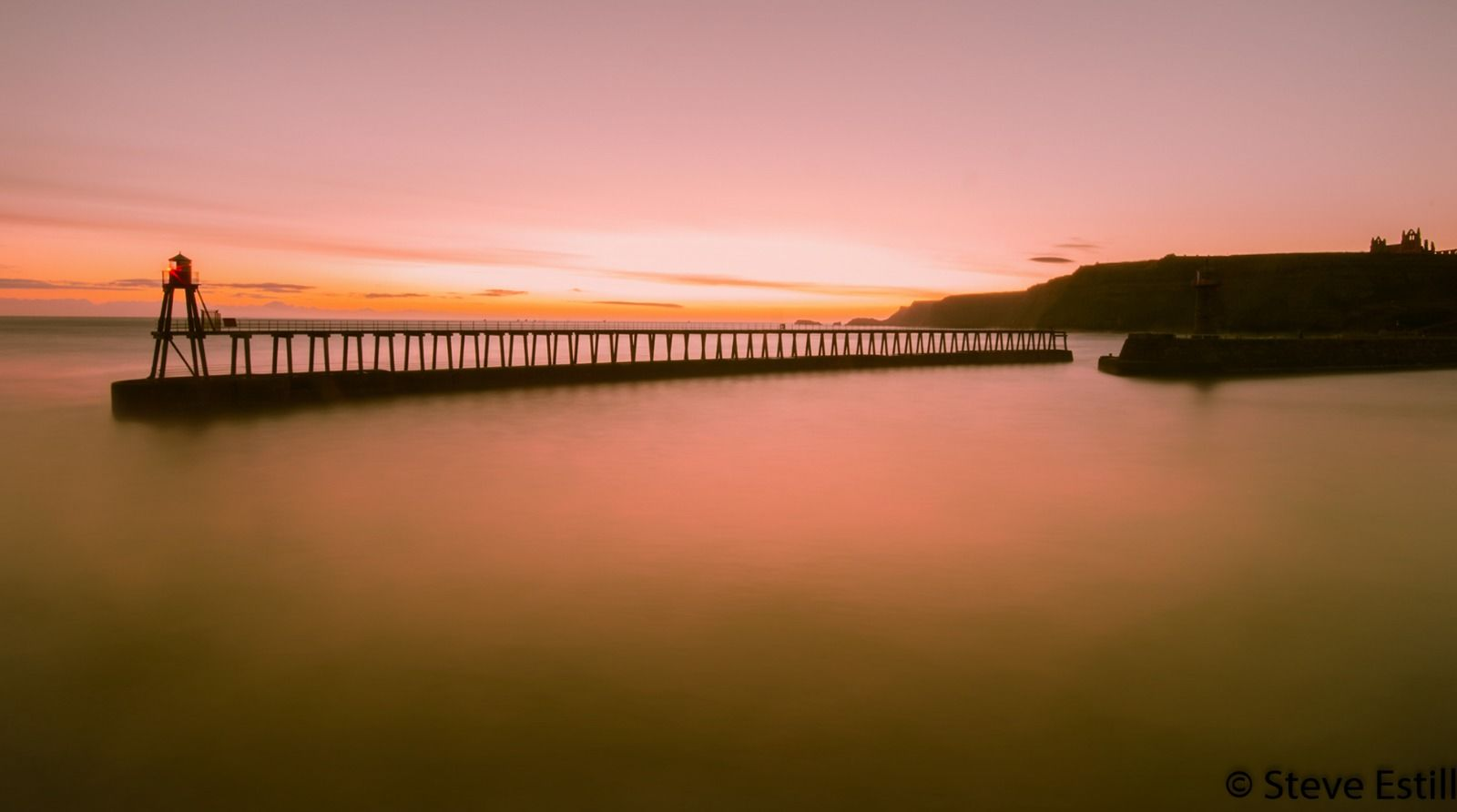 Whitby East Pier Sunrise