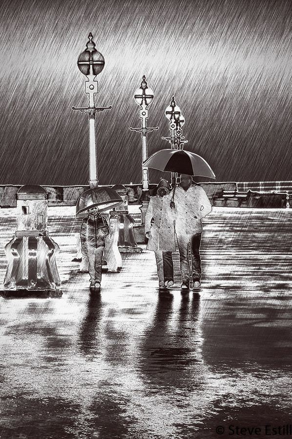 Whitby in the Rain