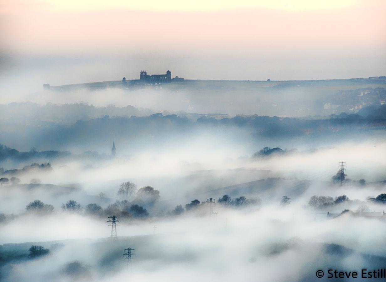 Whitby misty morning