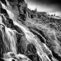 Waterfall and Old Man Of Storr, Skye