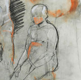 Man #4 - Study in charcoal, conte & pastel