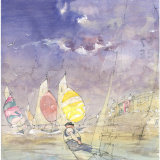 Sailing off the Ferry Inn - Salcombe