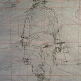 The Fisherman - central detail figure sketch