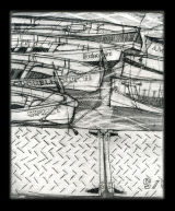 Gig boats - Drypoint