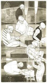 Salcombe Gig Regatta - Copper plate etching
