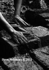Making mud bricks