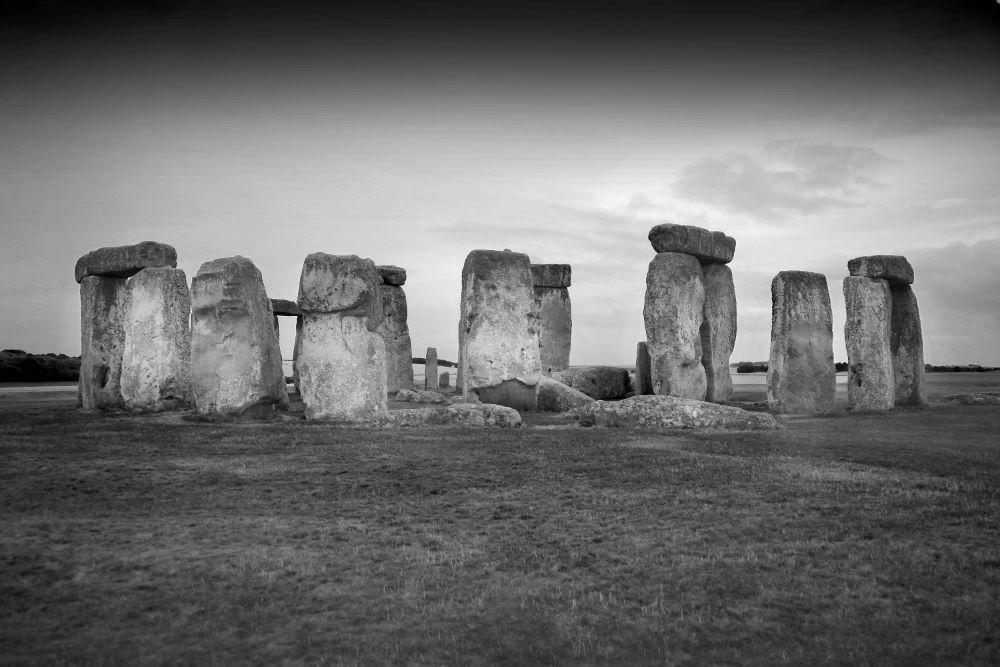 Stonehenge at Sunset . Wiltshire
