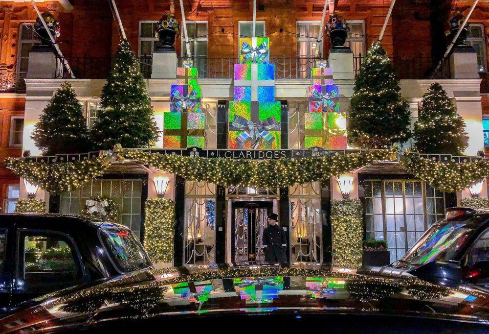 Claridge's Hotel at Christmas