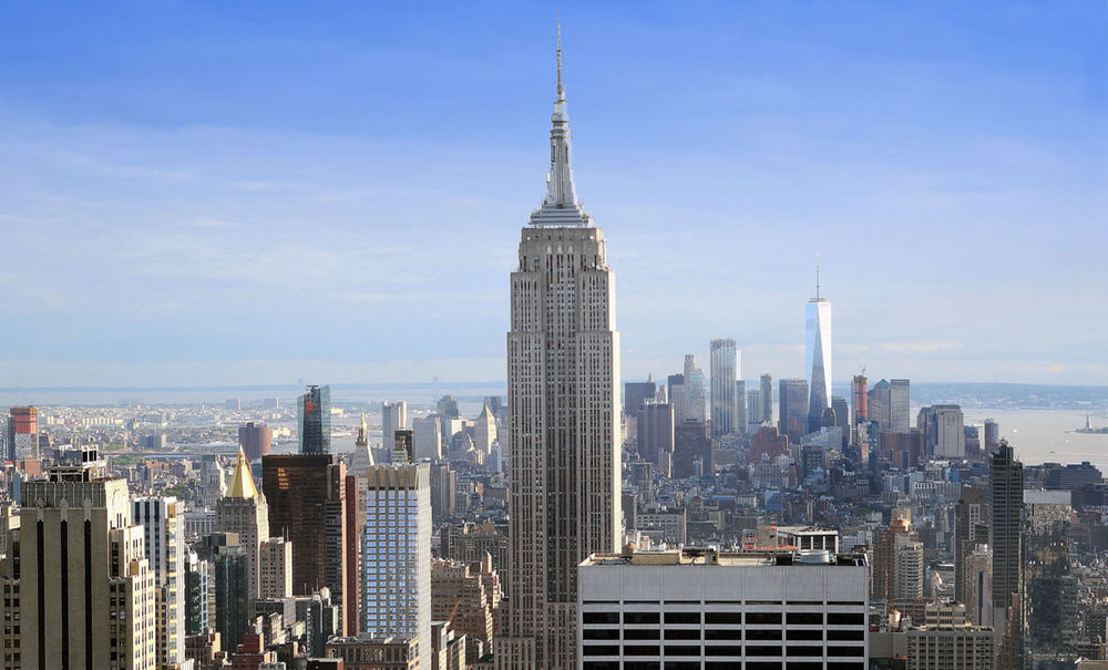 Manhattan Skyline . New York . USA